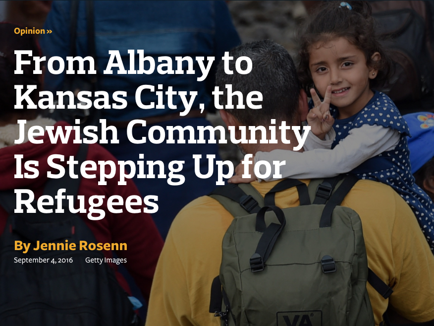 From Albany To Kansas City The Jewish Community Is Stepping Up For Refugees Hias