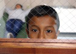 A child detained at a Brownsville, Texas facility