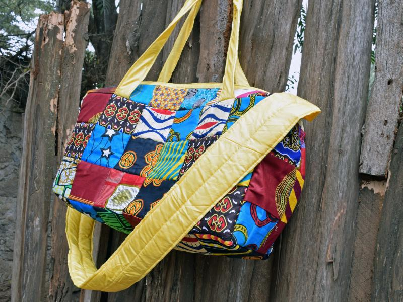 The bags made by Henry and Team No Sleep benefit LGBT refugees in Kenya.