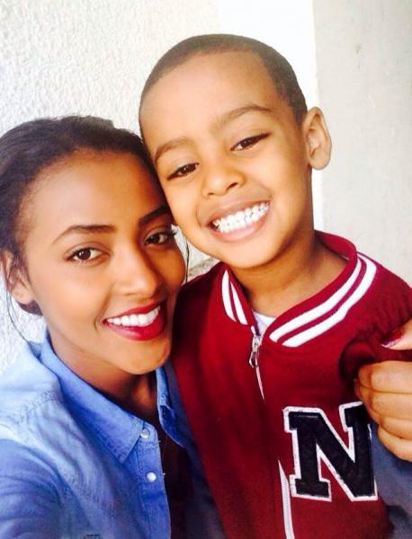 HIAS Israel Scholarship winner Tova Belete, who immigrated to Israel from Ethiopia in 1991 as part of Operation Solomon, with her son, El-Yada.